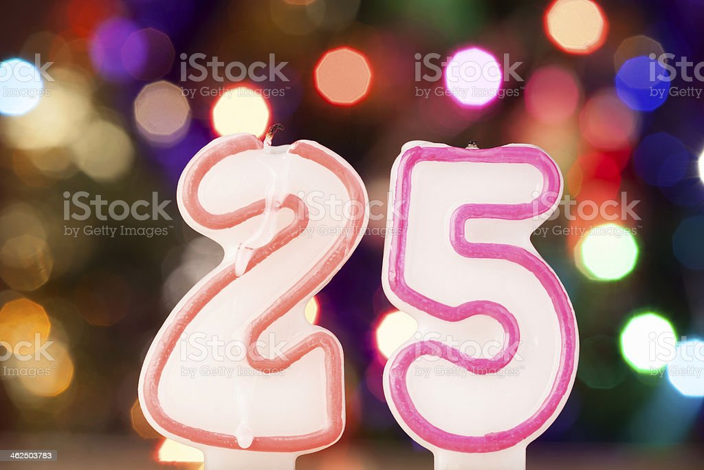 Candle number stock photo