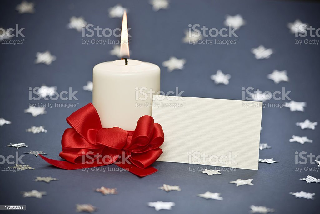 Candle on stars XXL royalty-free stock photo