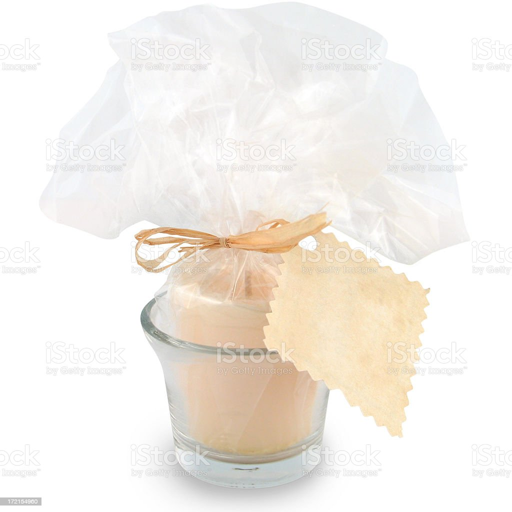 Candle (with clipping path) royalty-free stock photo
