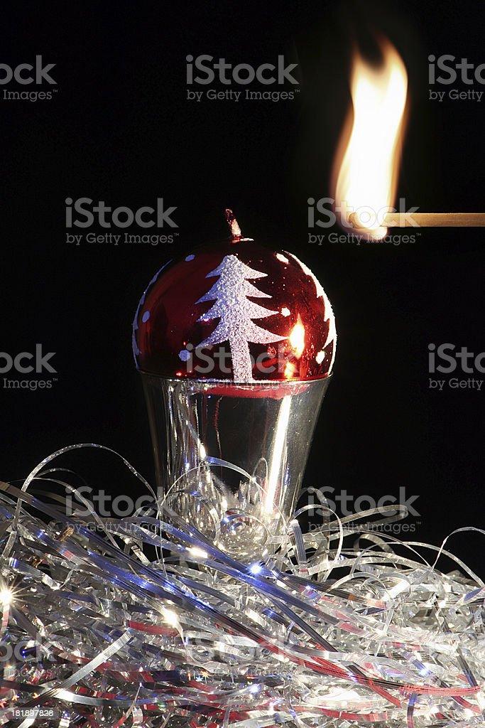 NY candle. royalty-free stock photo