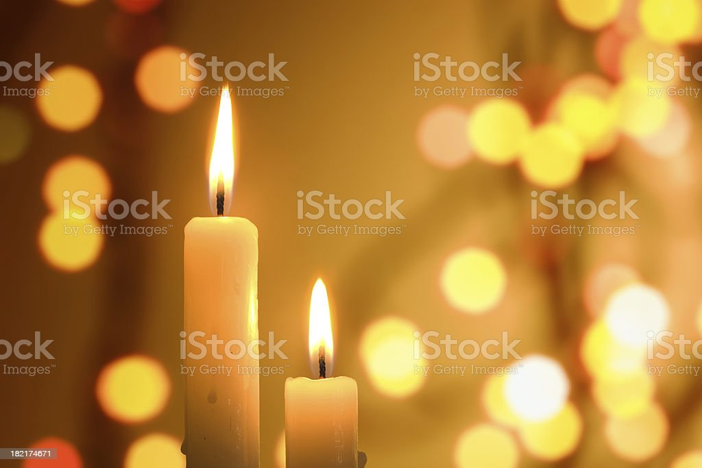 Candle (Christmas, new year, holiday) royalty-free stock photo