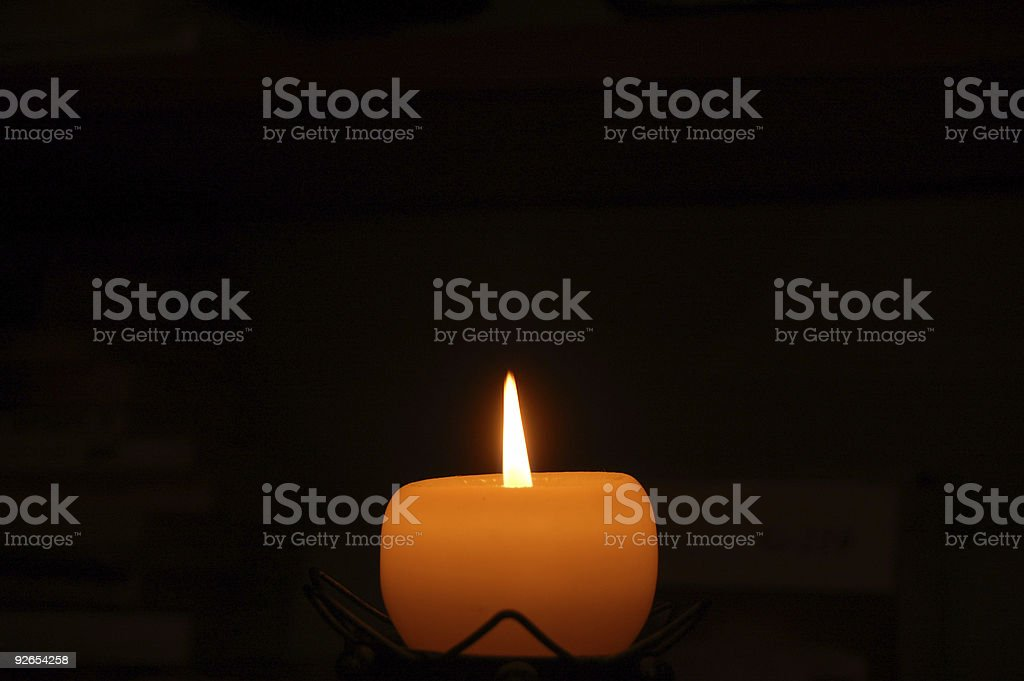 candle #1 stock photo