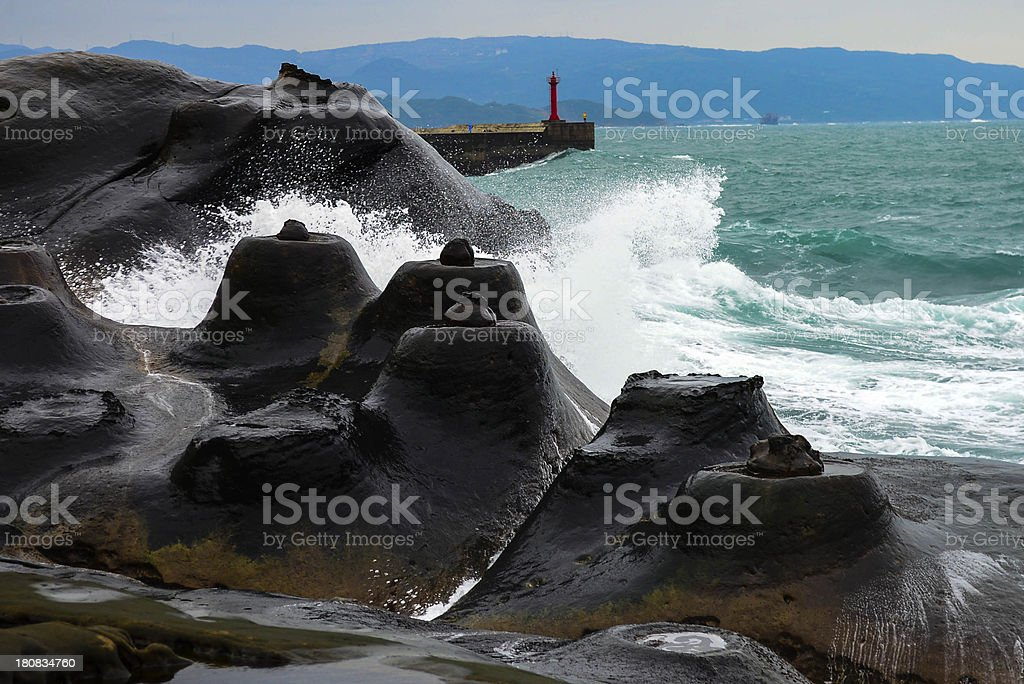 Candle rock royalty-free stock photo
