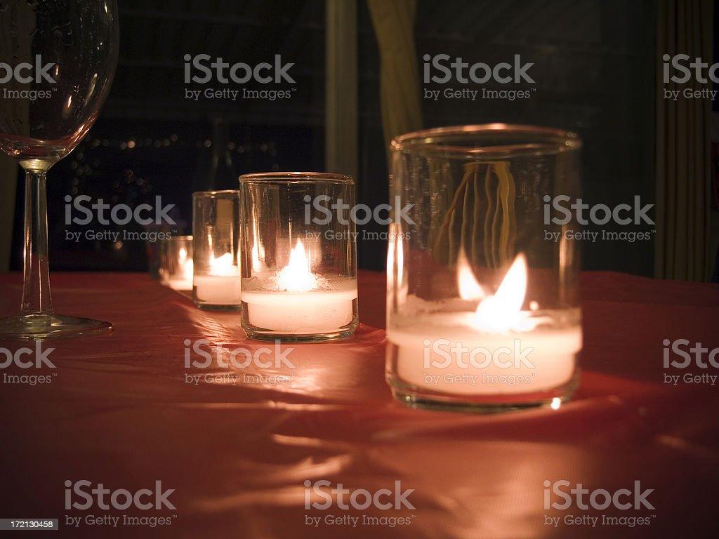 Candle Romance royalty-free stock photo