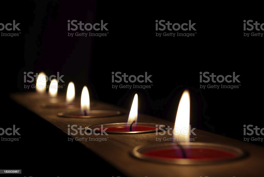 Candle row royalty-free stock photo