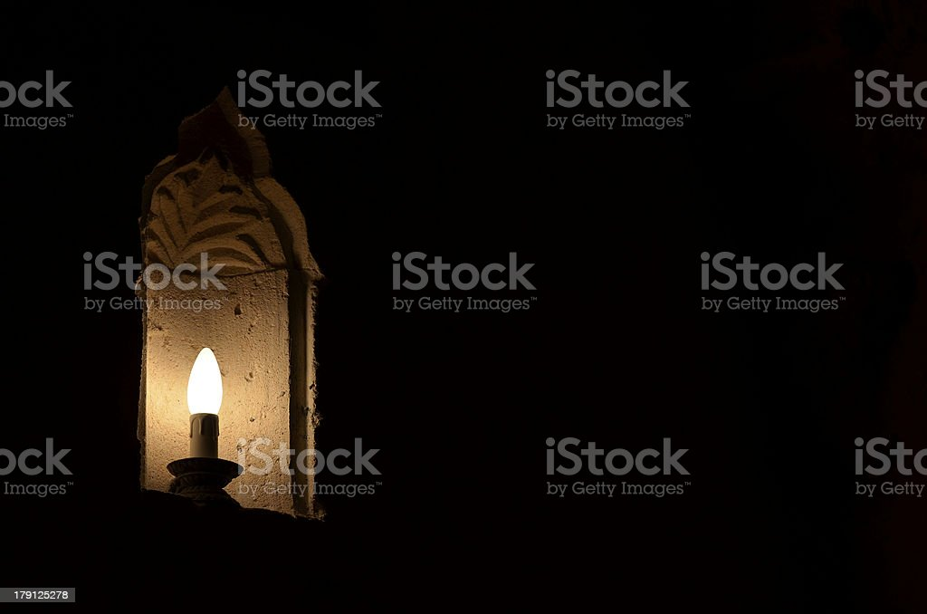 Candle shaped light royalty-free stock photo