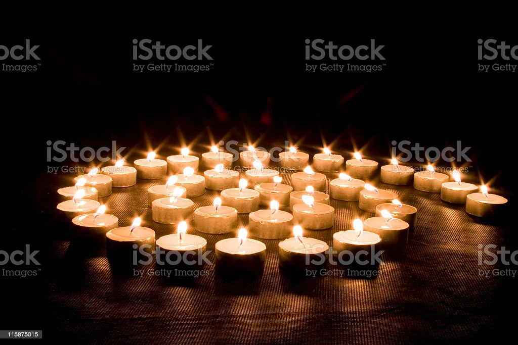 Candle spire stock photo