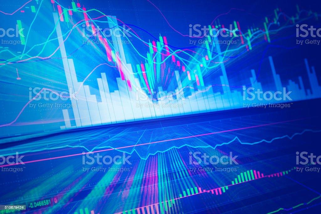 Candle stick graph chart of stock market.jpg stock photo