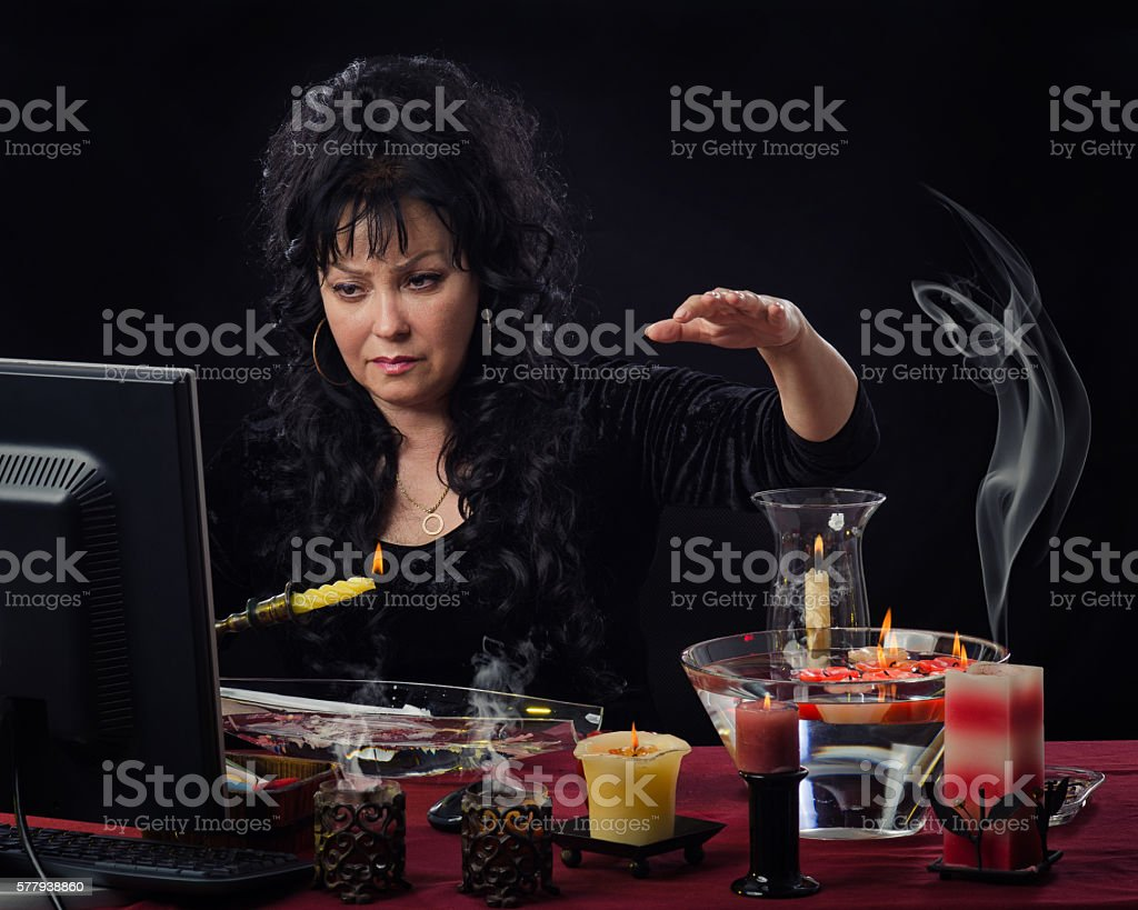 Candle wax reading online stock photo