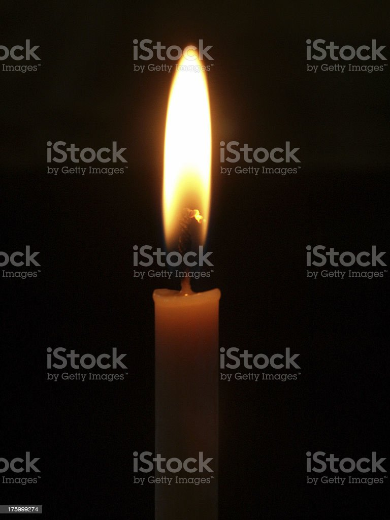 candle with black background stock photo