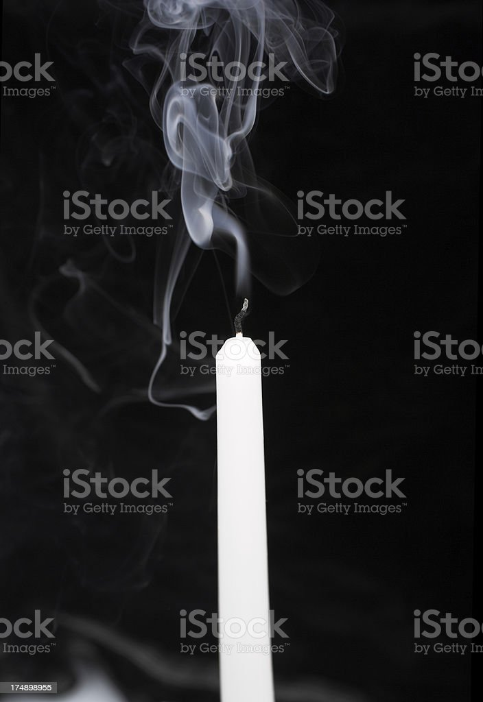 Candle without a flame stock photo
