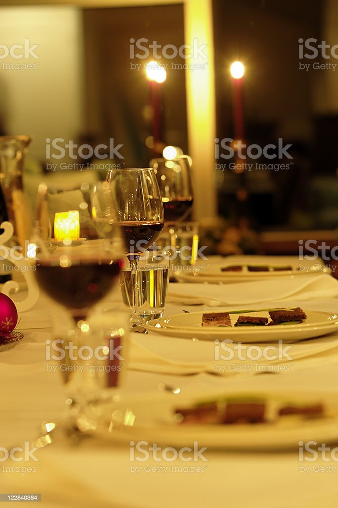 candlelight dinner royalty-free stock photo