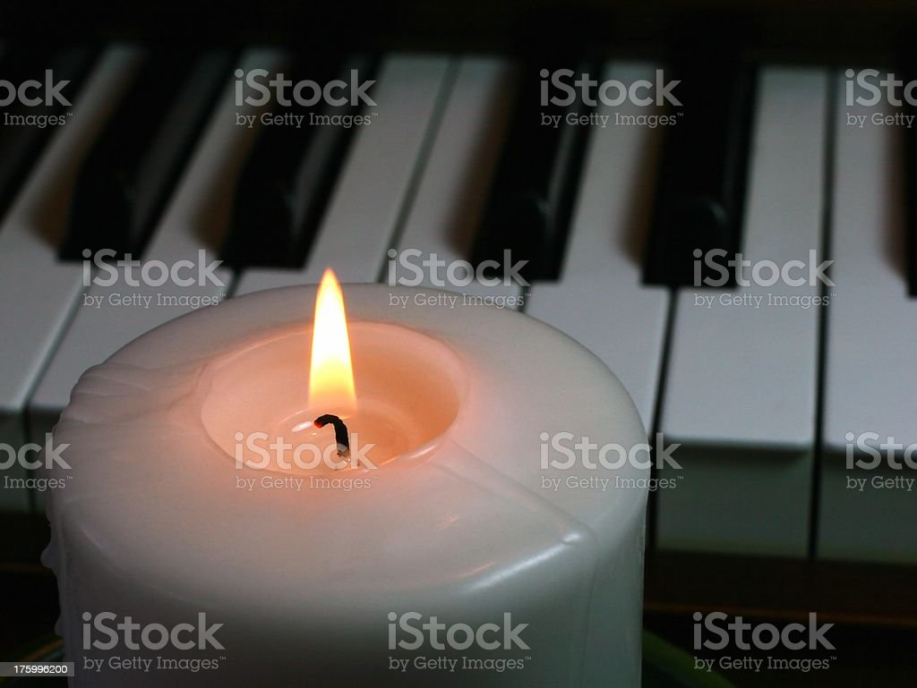Candlelight For Romance royalty-free stock photo