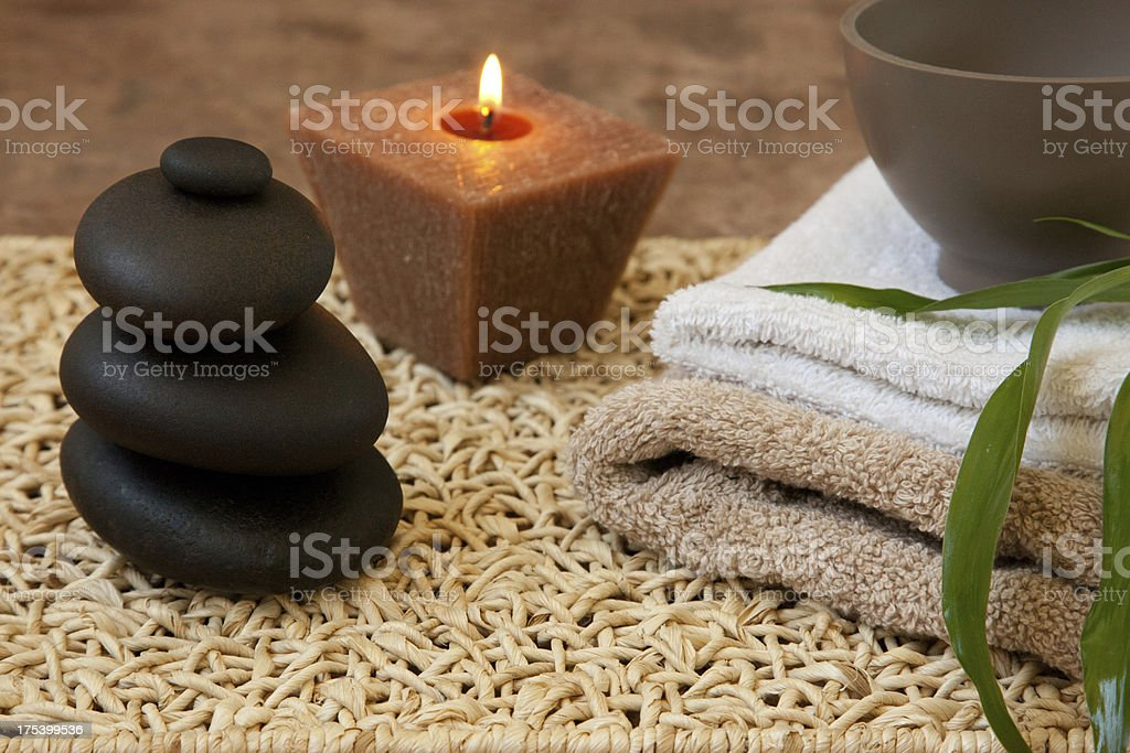 candlelight massage royalty-free stock photo