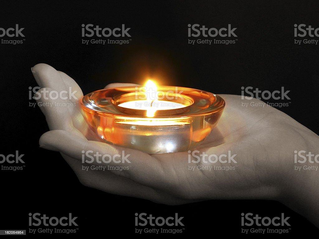 candlelight stock photo