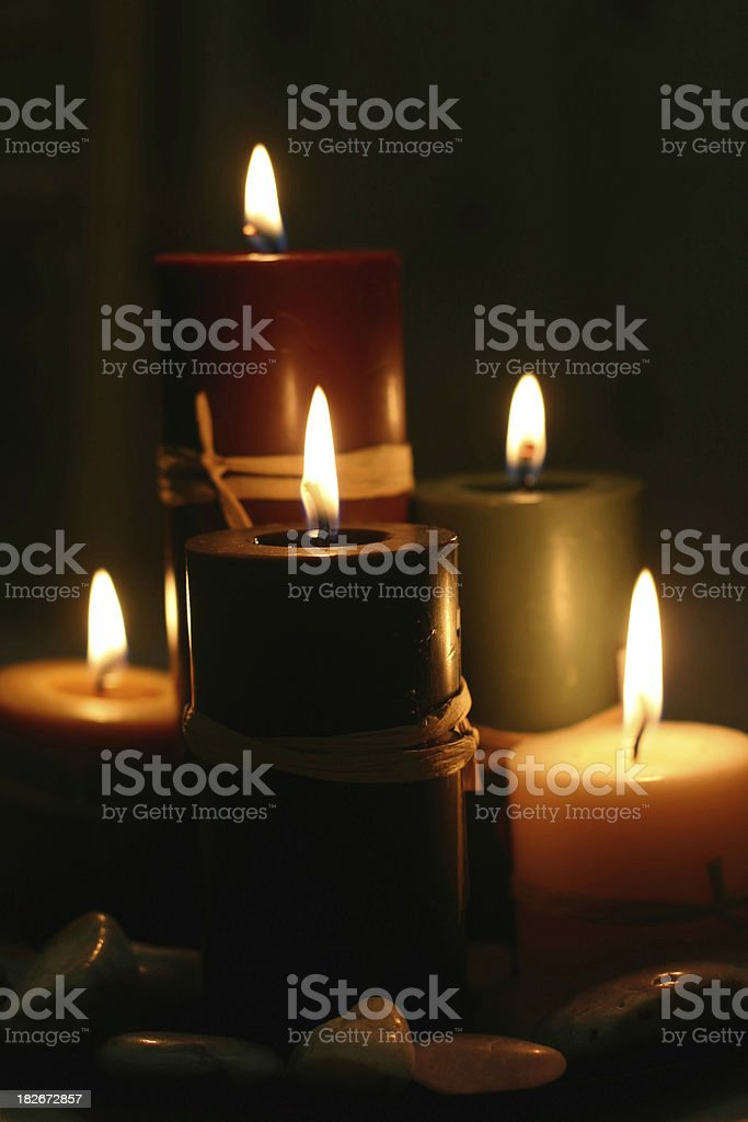 Candlelight (Centered) royalty-free stock photo