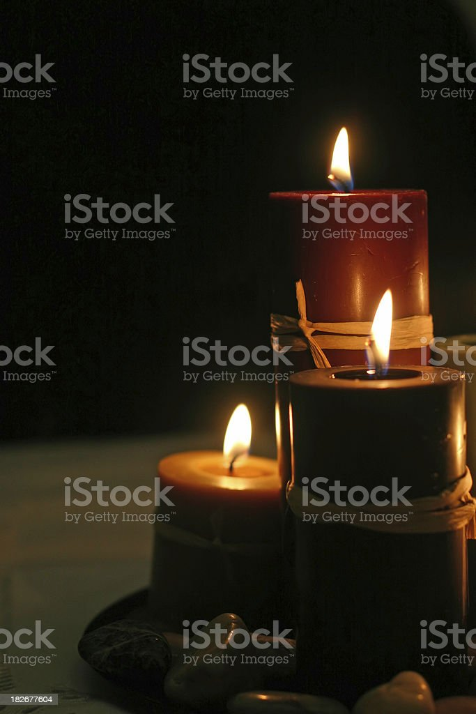 Candlelight (Right Justified) royalty-free stock photo