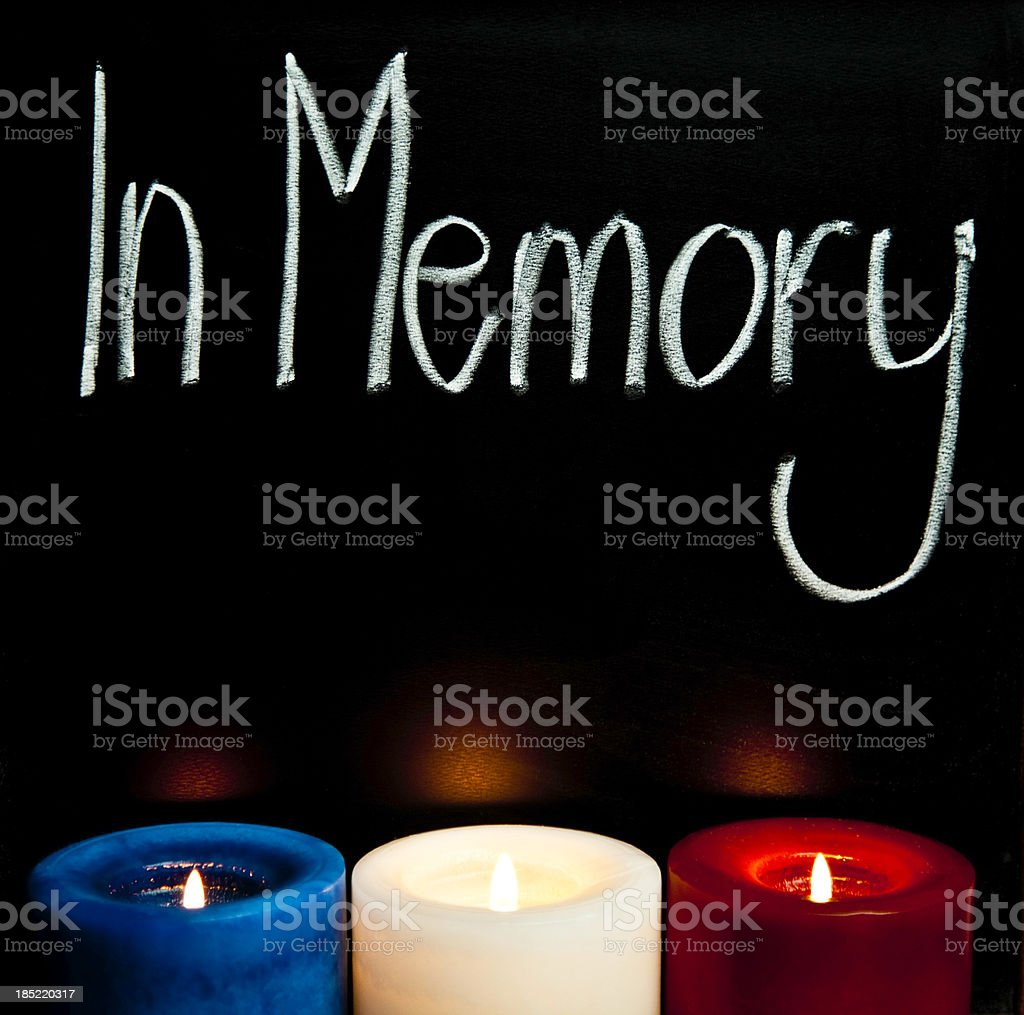 Candlelight Vigil stock photo