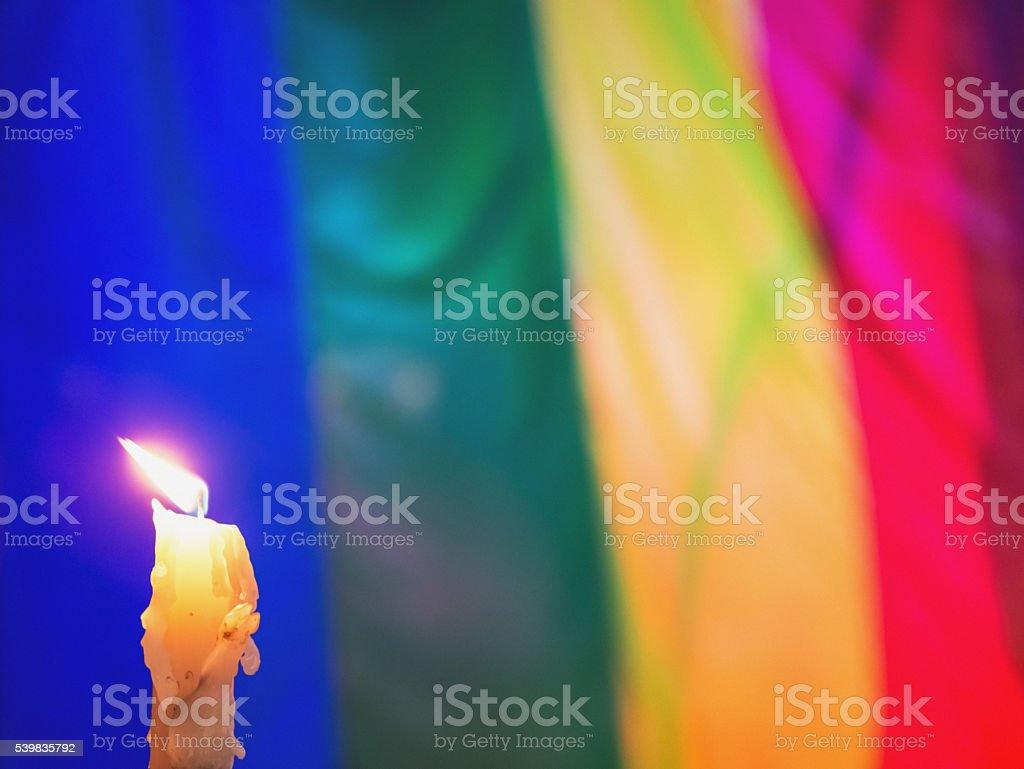 Candlelight Vigil stock photo