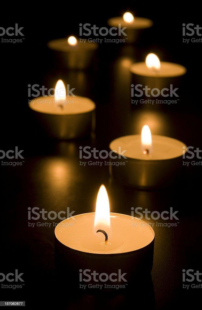 Candlelights stock photo
