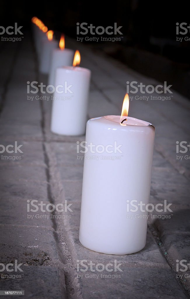 Candlelights royalty-free stock photo