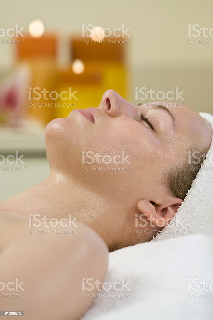 Candlelit Relaxation royalty-free stock photo