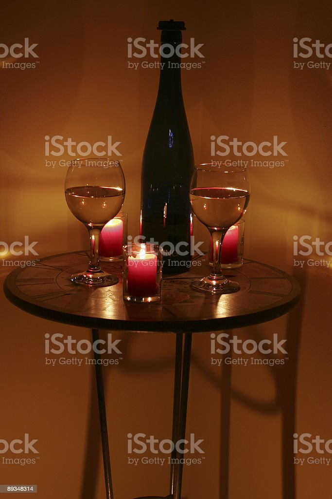 Candlelit romance stock photo