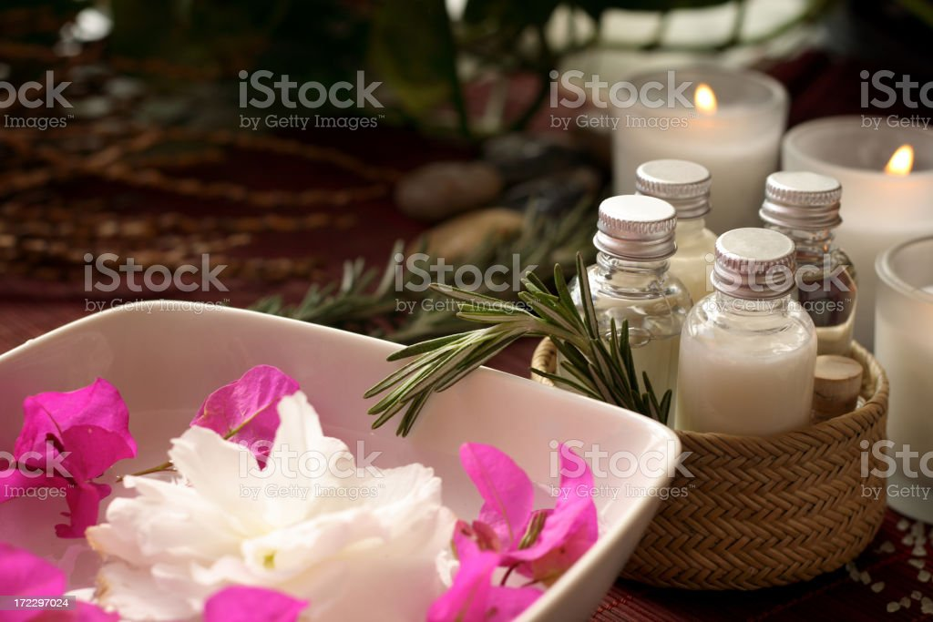 candle-lit spa session royalty-free stock photo