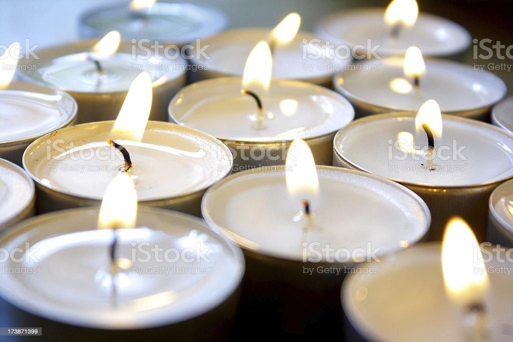 candle-lites, Teelichte royalty-free stock photo