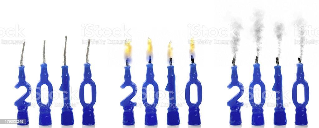 Candles 2010 status royalty-free stock photo
