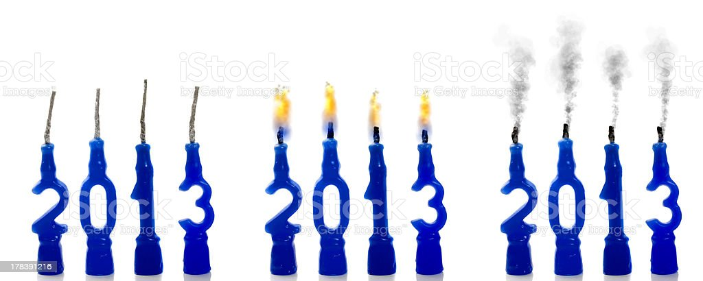 Candles 2013 steps royalty-free stock photo