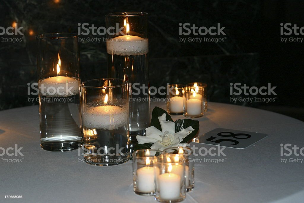 candles and gardenia royalty-free stock photo