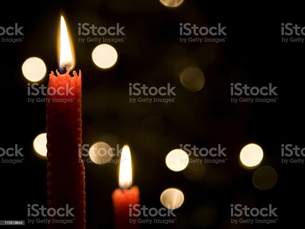 candles and lights royalty-free stock photo