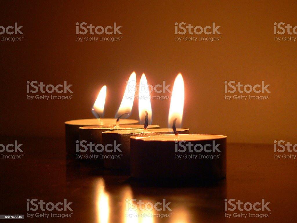 Candles at church royalty-free stock photo