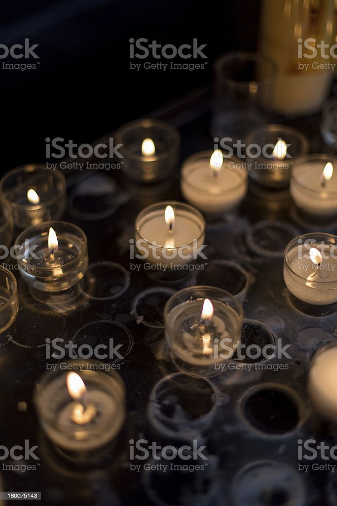 candles at church royalty-free stock photo