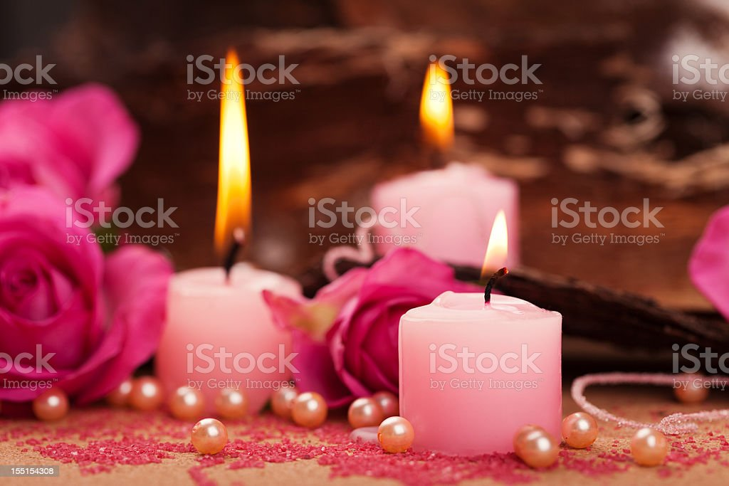 candles decoration stock photo