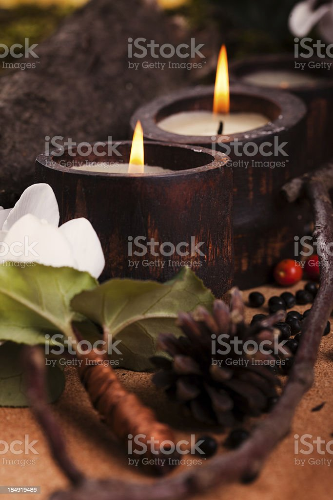 candles decoration royalty-free stock photo