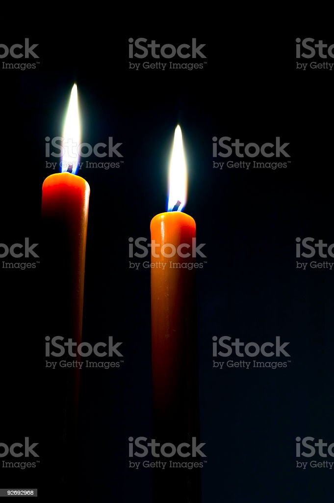 Candles from the dark royalty-free stock photo