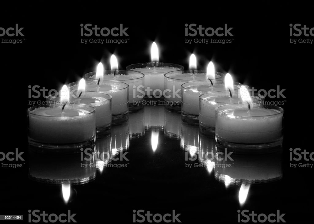 Candles in Black & White stock photo