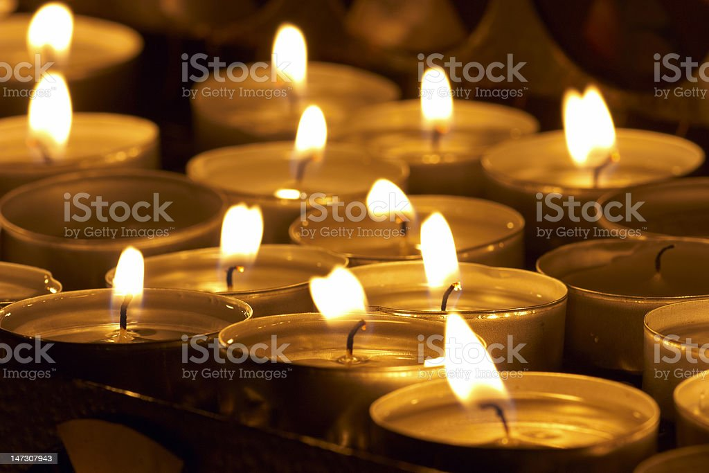 candles in catholic church royalty-free stock photo