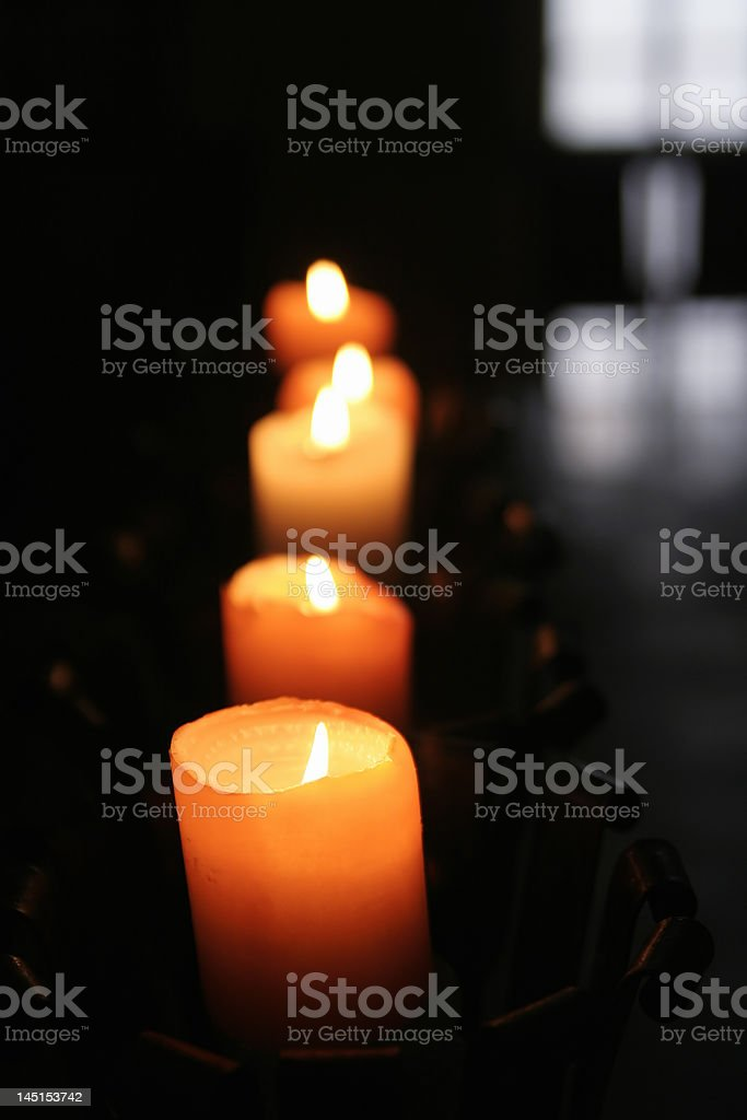 Candles in dark royalty-free stock photo