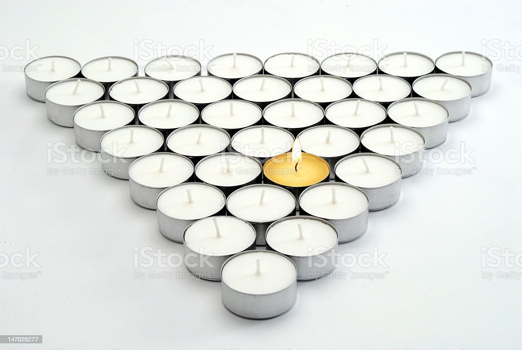Candles in formation royalty-free stock photo