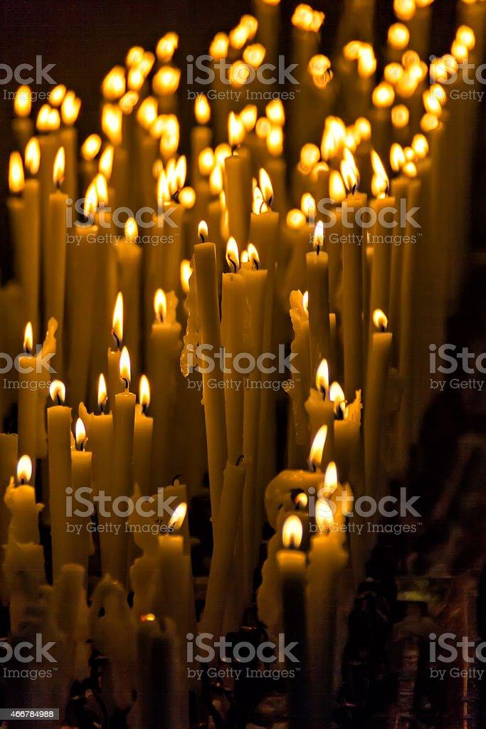 Candles in Milan's Duomo stock photo