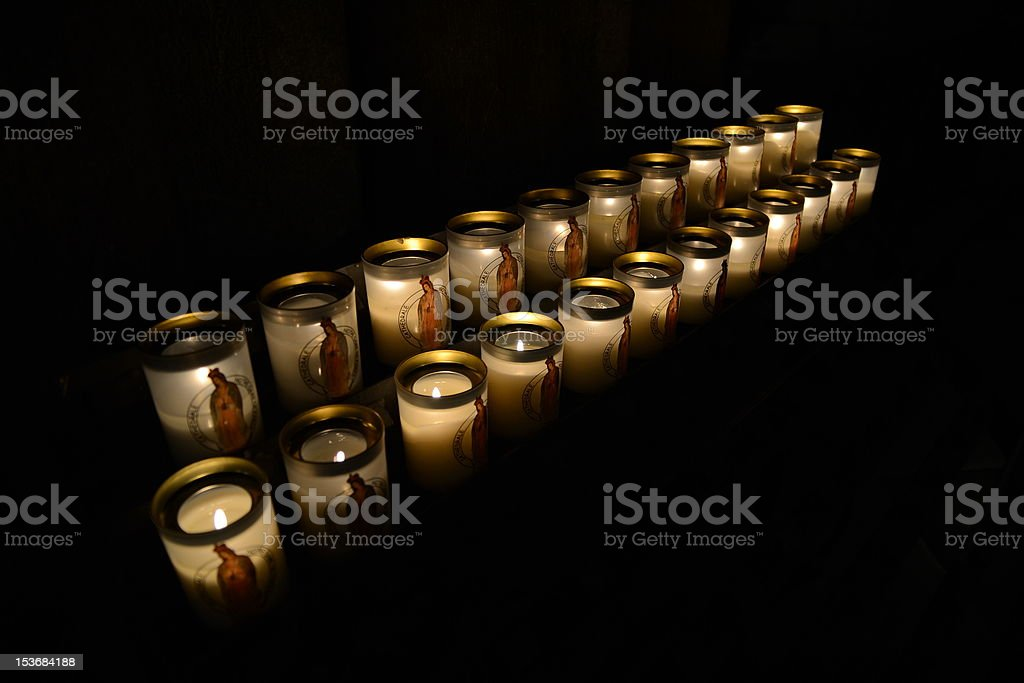 Candles in the Church royalty-free stock photo