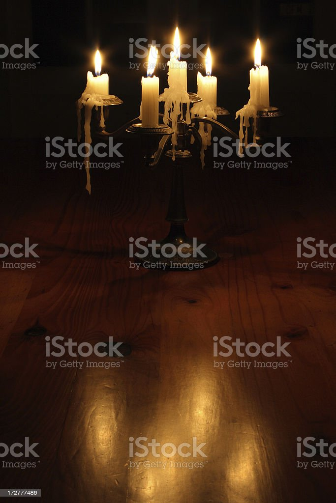 candles in the dark stock photo