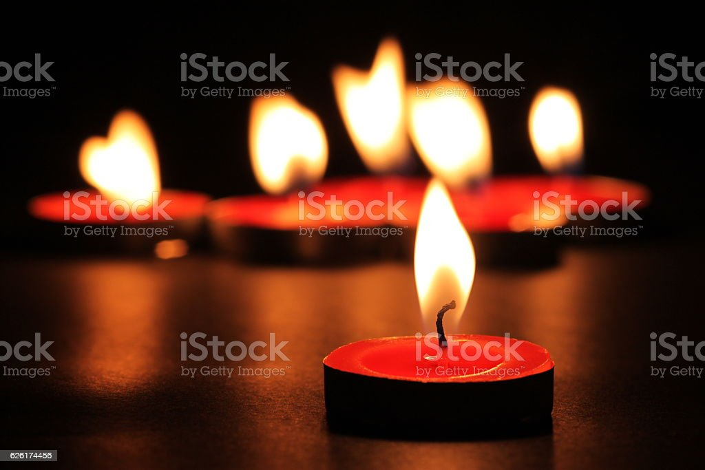 Candles In The Wind stock photo