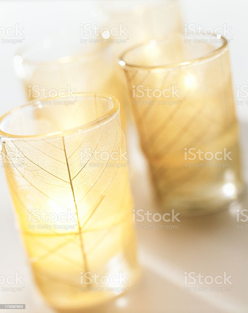 Candles in votive royalty-free stock photo