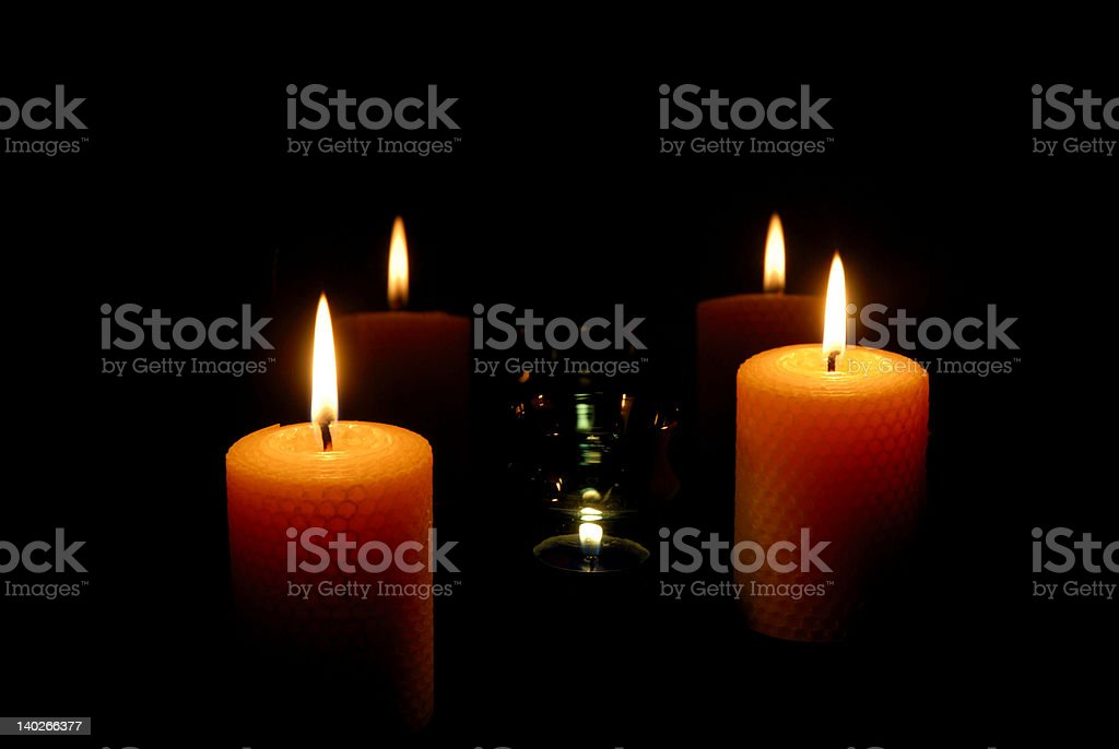 candles light royalty-free stock photo