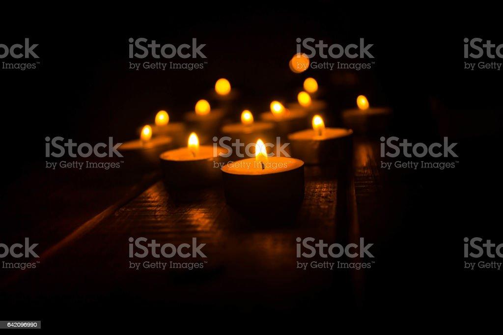 Candles light stock photo