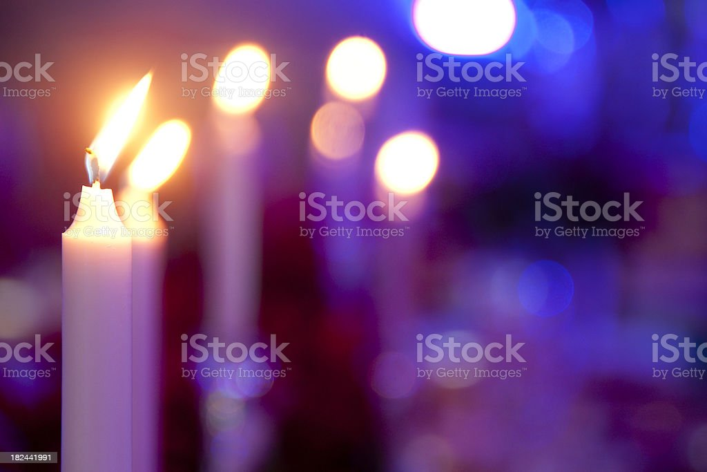 Candles on a Table royalty-free stock photo